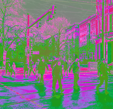 """Digital Arts titled """"Crossing – Rainy Mo…"""" by Dave Collier (Collimost), Original Art, 2D Digital Work"""