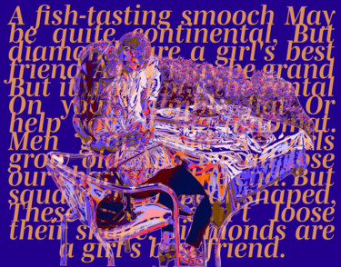 """Digital Arts titled """"Fishy Smooch"""" by Dave Collier (Collimost), Original Art, Digital Painting"""