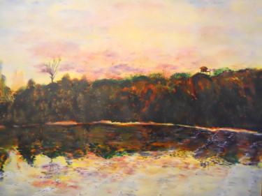 """Painting titled """"the-view-from-the-b…"""" by David Callahan, Original Art, Acrylic"""