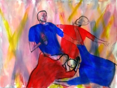 Rugby Painting, acrylic, figurative, artwork by David Callahan