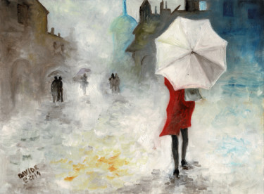 Painting, oil, impressionism, artwork by Davide Pacini