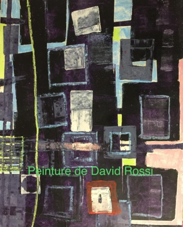 Painting, oil, outsider art, artwork by David Rossi