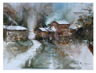 """Painting titled """"Original Watercolor…"""" by Lilou.Online Fine Arts Mangeart, Original Art, Watercolor"""