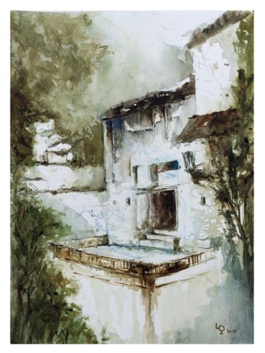 """Painting titled """"Wall Art France, or…"""" by Lilou.Online Fine Arts Mangeart, Original Art, Watercolor"""