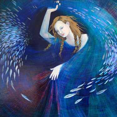 """Painting titled """"Dancing in the Deep…"""" by Dawn Rodger, Original Art, Oil"""