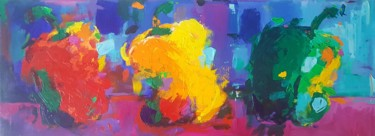 """Painting titled """"Three Peppers"""" by Dawn Underwood, Original Art, Acrylic"""