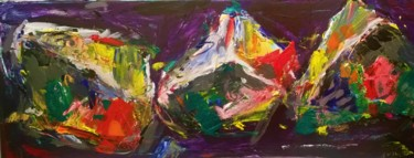 """Painting titled """"Three Stones from S…"""" by Dawn Underwood, Original Art, Acrylic"""