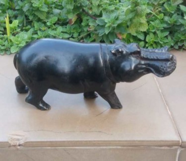 Animal Sculpture, wood, expressionism, artwork by Obed Omwange