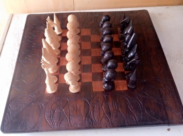Sculpture, wood, artwork by Obed Omwange