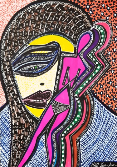 Painting, ink, abstract, artwork by Mirit Ben-Nun