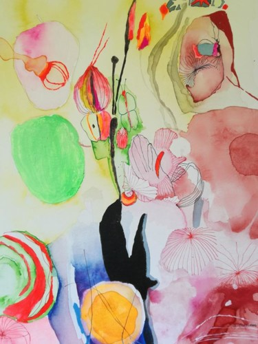 """Painting titled """"BOMBASTIC"""" by Rebecca De Figueiredo, Original Art,"""