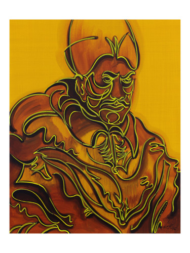 """Painting titled """"the-angry-pope-80x1…"""" by Dek, Original Art, Acrylic Mounted on Other rigid panel"""