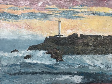 """Painting titled """"Bouterolle Biarritz"""" by Delphine Orset Guerry, Original Art, Acrylic"""