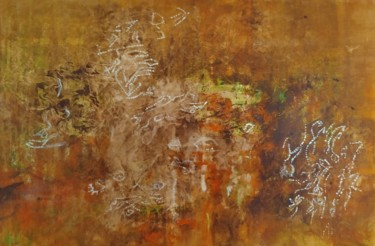 """Painting titled """"Terre - Earth"""" by Delphine Rapaport, Original Art, Acrylic"""