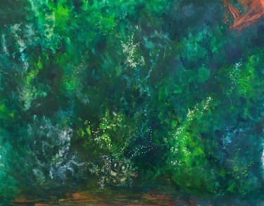 """Painting titled """"Amazonie"""" by Delphine Rapaport, Original Art, Acrylic"""