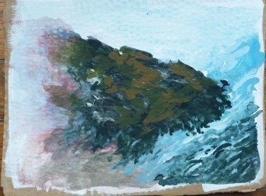 """Painting titled """"Britanny's water&we…"""" by Catherine Demorand, Original Art, Acrylic Mounted on Stretcher frame"""