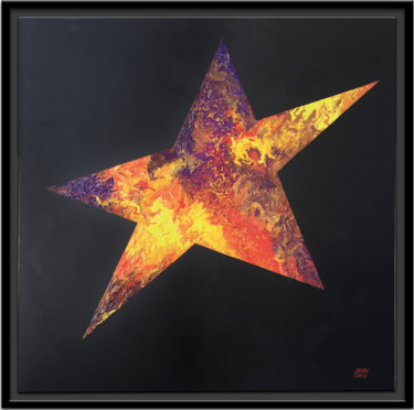 """Painting titled """"STAR 1"""" by Denis Chich, Original Art, Acrylic Mounted on Stretcher frame"""
