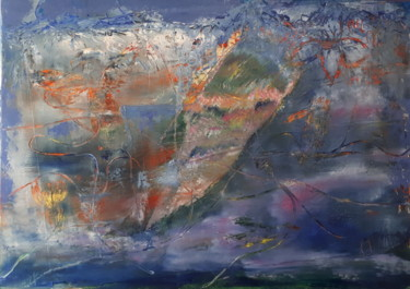Graffiti Painting, oil, abstract, artwork by Denise Dunant