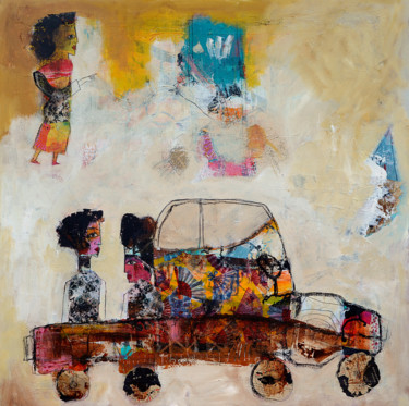 """Painting titled """"On the road 01"""" by Valérie Depadova, Original Art, Acrylic"""