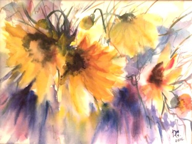 Nature Painting, watercolor, figurative, artwork by Dganna