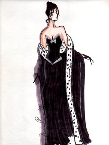 """Drawing titled """"Royal Glamour"""" by Diana Rivera, Original Art, Other"""