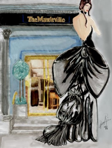 """Drawing titled """"The Lady of The Man…"""" by Diana Rivera, Original Art, Other"""