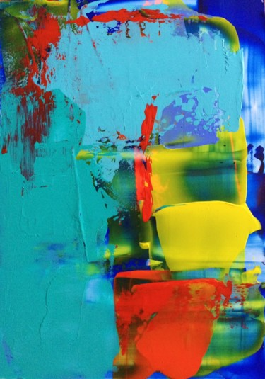 Color Painting, acrylic, abstract, artwork by Diane Leon