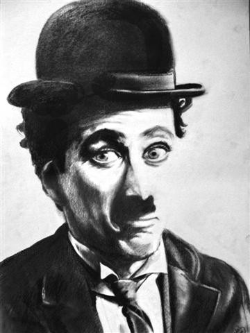 """Drawing titled """"charlot"""" by Diedel, Original Art, Other"""