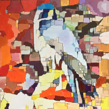 Bird Painting, oil, expressionism, artwork by Francis Diez