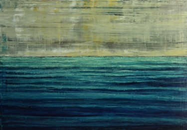 """Painting titled """"The Sea 2"""" by Dimitra Papageorgiou, Original Art, Oil"""