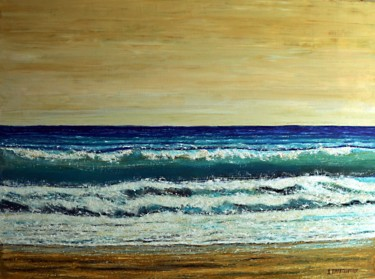 """Painting titled """"Between The Waves 3"""" by Dimitra Papageorgiou, Original Art, Oil"""