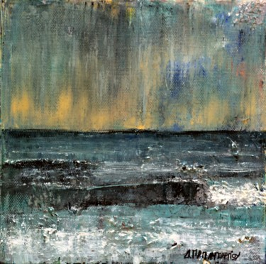 """Painting titled """"Small Seascape 17"""" by Dimitra Papageorgiou, Original Art, Oil"""