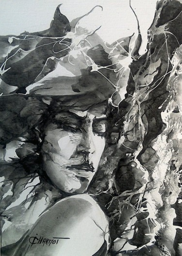 Fairytale Painting, ink, expressionism, artwork by Isabelle Charmot
