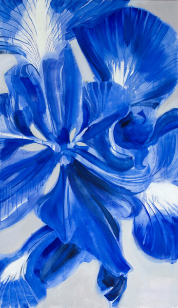 """Painting titled """"Iris"""" by Dita Luse, Original Art, Oil Mounted on Stretcher frame"""