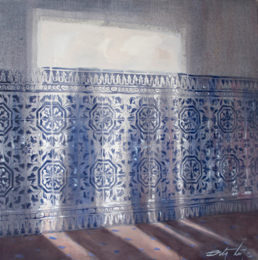 """Painting titled """"Shadows in hallway"""" by Dita Luse, Original Art, Oil"""
