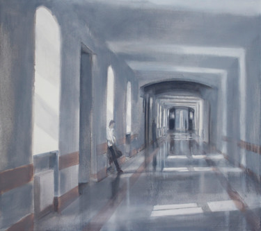 """Painting titled """"Hallway"""" by Dita Luse, Original Art, Oil"""