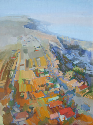 """Painting titled """"Open space"""" by Elena Hlavenchuk, Original Art, Oil Mounted on Stretcher frame"""