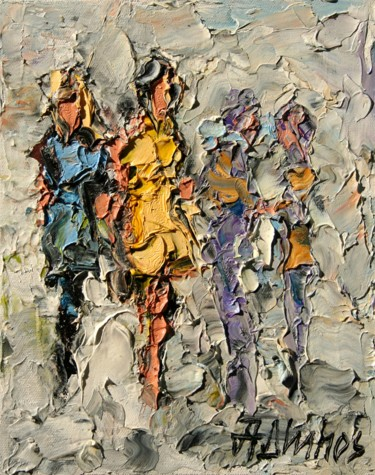 Painting, oil, figurative, artwork by Andre, Yary, & Peter Dluhos