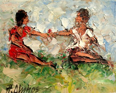 """Painting titled """"""""For You My Dear"""" b…"""" by Andre, Yary, & Peter Dluhos, Original Art, Oil"""