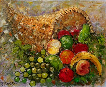 """Painting titled """"""""Cornucopia"""" by AND…"""" by Andre, Yary, & Peter Dluhos, Original Art, Oil"""