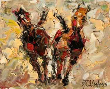 """Painting titled """"""""Siblings"""" by ANDRE…"""" by Andre, Yary, & Peter Dluhos, Original Art, Oil"""