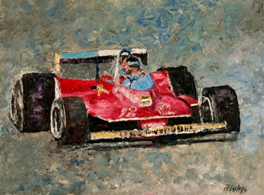 """Painting titled """"""""Villeneuve"""" by AND…"""" by Andre, Yary, & Peter Dluhos, Original Art, Oil"""