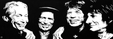 """Painting titled """"The Rolling Stones"""" by Dol, Original Art, Acrylic"""