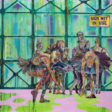 """Painting titled """"Sign not in Use"""" by Dominic Virtosu, Original Art, Oil Mounted on Stretcher frame"""
