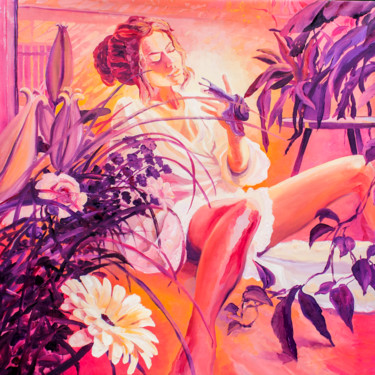 """Painting titled """"Closer to Me"""" by Dominic Virtosu, Original Art, Oil Mounted on Stretcher frame"""