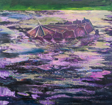 """Painting titled """"Sinking Beauty"""" by Dominic Virtosu, Original Art, Oil Mounted on Stretcher frame"""