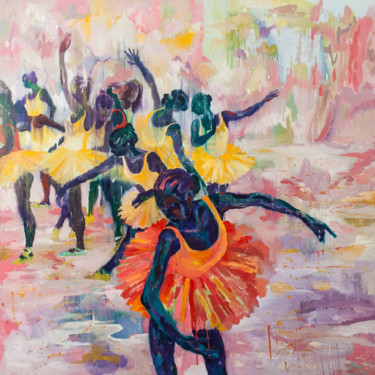 """Painting titled """"Dancers of Tenderne…"""" by Dominic Virtosu, Original Art, Oil Mounted on Stretcher frame"""