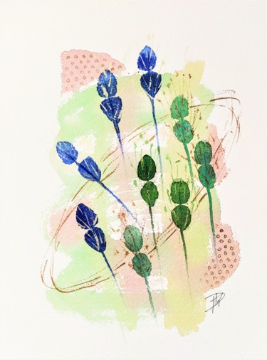 Nature Painting, watercolor, abstract, artwork by Dominique Mireille Richard