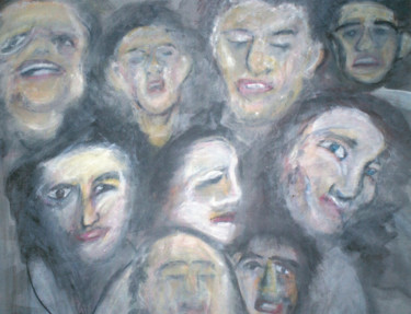 """Painting titled """"""""Voices"""""""" by Dondavid, Original Art,"""