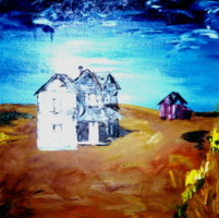 """Painting titled """"thehouses-004.jpg"""" by Dondavid, Original Art,"""